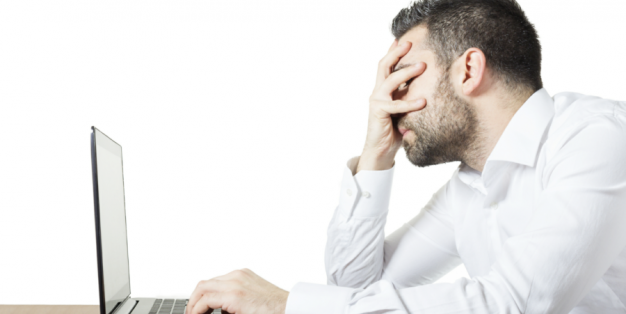 Homem frustrado