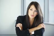 Mulher Profissional Pensativa