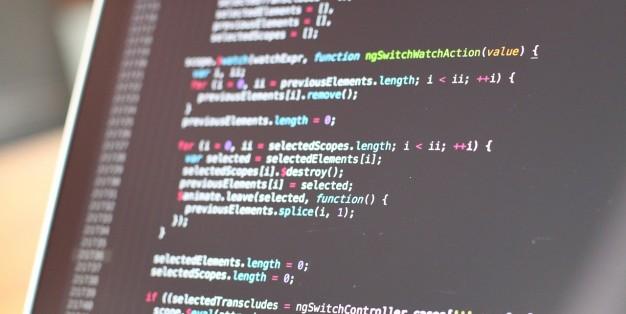 Código de programação web