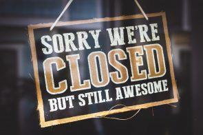sinal que negócio está fechado