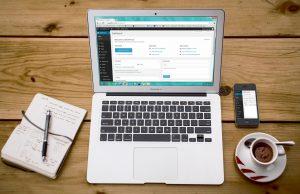 blogging em computador e telemovel