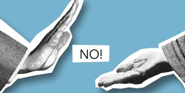 mão a rejeitar outra mão